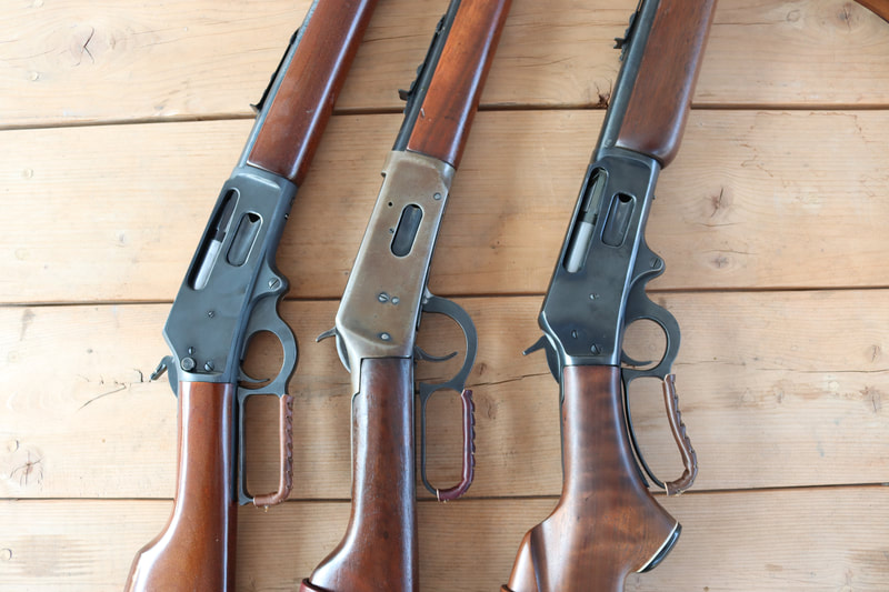 Leather Lever Wraps on lever action rifles