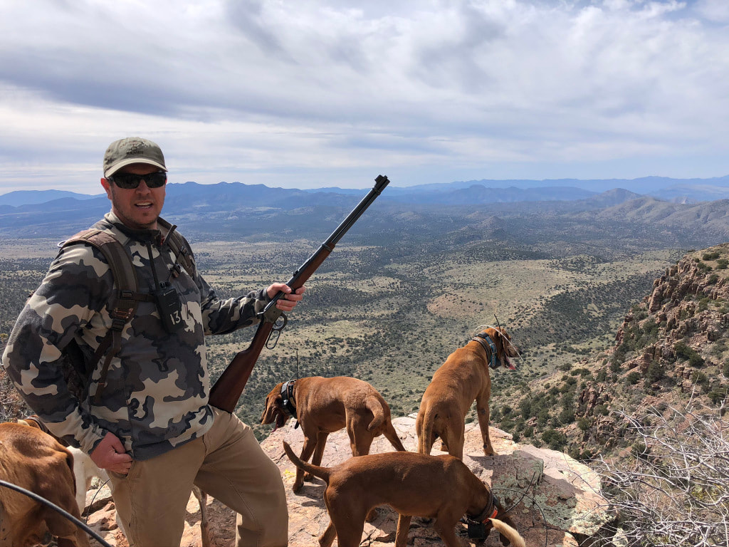 Picture of Clint a.k.a. The Lever Action Hunter in Arizona lion country